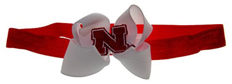 NCAA Nebraska Cornhuskers Stretch Baby Headband, One Size, Red/White