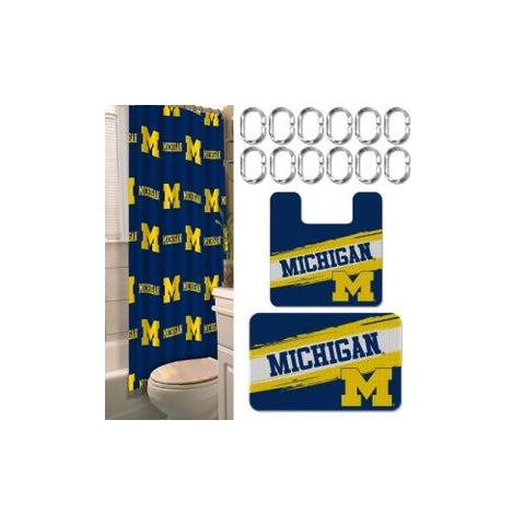 Michigan Wolverines NCAA 15-Piece Bath Set