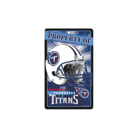 "Tennessee Titans NFL ""Property Of"" Plastic Sign (7.25in x 12in)"