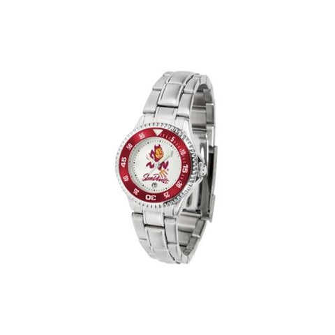 "Arizona State Sun Devils NCAA ""Competitor"" Women's Watch (Metal Band)"