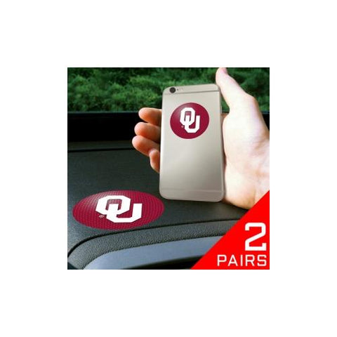 "Oklahoma Sooners NCAA ""Get a Grip"" Cell Phone Grip Accessory (2 Piece Set)"