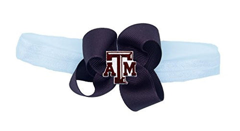 NCAA Texas A&M Aggies Stretch Baby Headband, One Size, Aggie Maroon/White