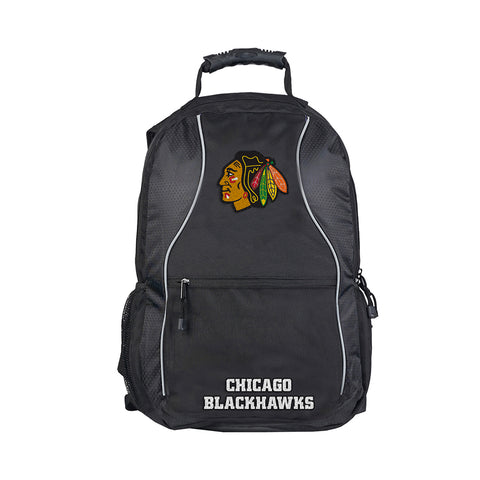 Chicago Blackhawks NHL Phenom Backpack (Black/Black) (2-Pack)