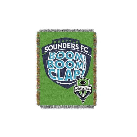 Seattle Sounders FC MLS Woven Tapestry Throw Blanket (48x60) (2-Pack)