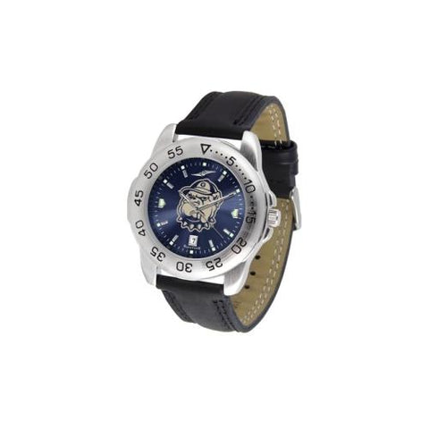 "Georgetown Hoyas NCAA AnoChrome ""Sport"" Mens Watch (Leather Band)"