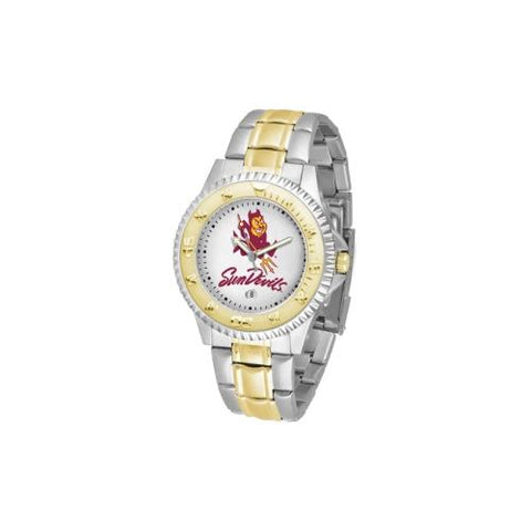 "Arizona State Sun Devils NCAA ""Competitor"" men's watch (2-Tone Stainless Steel Band)"