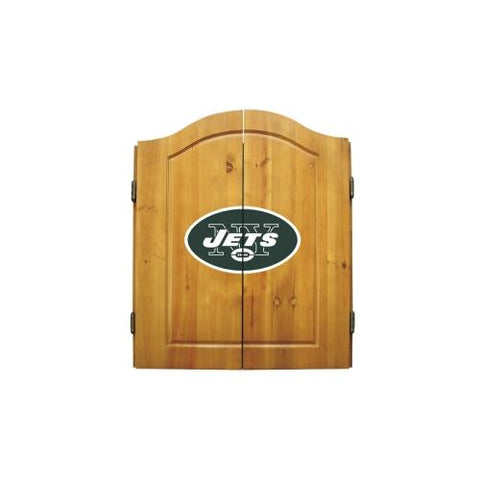 New York Jets NFL Dart Board w/Cabinet