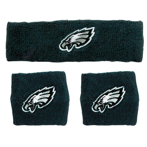 Philadelphia Eagles NFL Wristband and Headband Set