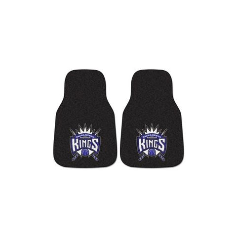 Sacramento Kings NBA 2-Piece Printed Carpet Car Mats (18x27)