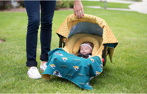 "Jacksonville Jaguars NFL ""The Whole Caboodle"" 5-Piece Carseat Cover Set"