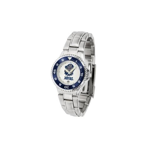 "Georgetown Hoyas NCAA ""Competitor"" Women's Watch (Metal Band)"