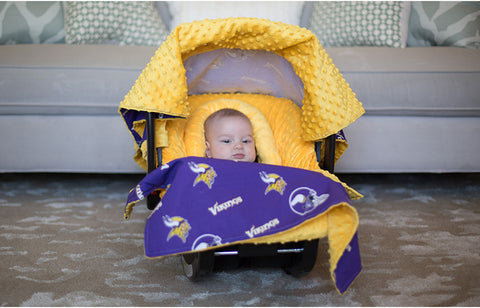 "Minnesota Vikings NFL ""The Whole Caboodle"" 5-Piece Carseat Cover Set"