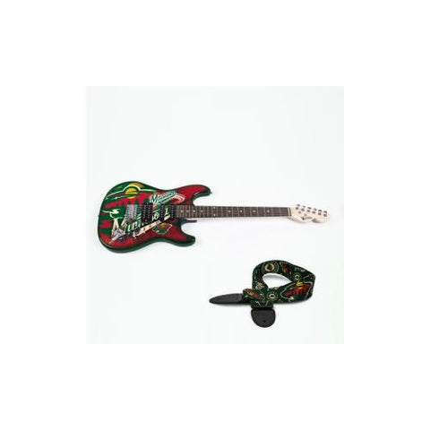 "Minnesota Wild NHL ""Northender"" Electric Guitar with Strap"