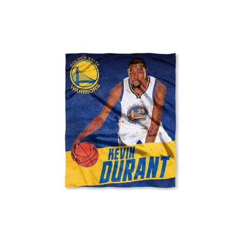 Golden State Warriors NBA Kevin Durant Silk Touch Throw (50in x 60in)