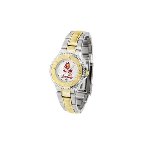 "Arizona State Sun Devils NCAA ""Competitor"" Women's watch (2-Tone Stainless Steel Band)"