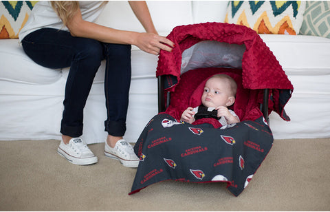 "Arizona Cardinals NFL ""The Whole Caboodle"" 5-Piece Carseat Cover Set"
