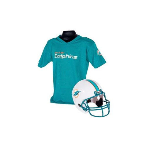 Miami Dolphins Youth NFL Helmet and Jersey Set