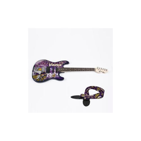 "Minnesota Vikings NFL ""Northender"" Electric Guitar with Strap"