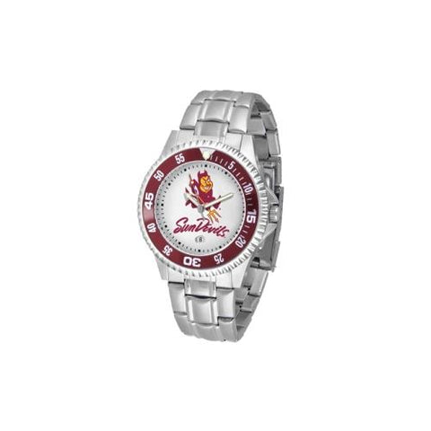 "Arizona State Sun Devils NCAA ""Competitor"" Mens Watch (Metal Band)"