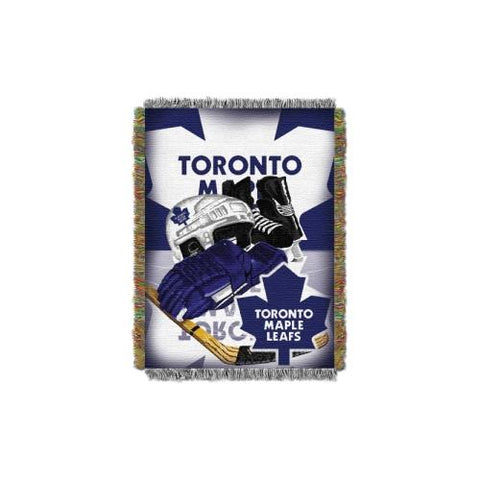 Toronto Maple Leafs NHL Woven Tapestry Throw Blanket (Home Ice Advantage) (48x60) (2-Pack)