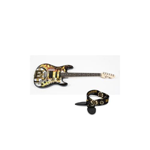 "Boston Bruins NHL ""Northender"" Electric Guitar with Strap"