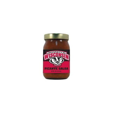 Wisconsin Badgers NCAA Picante Salsa (Md) (16oz)