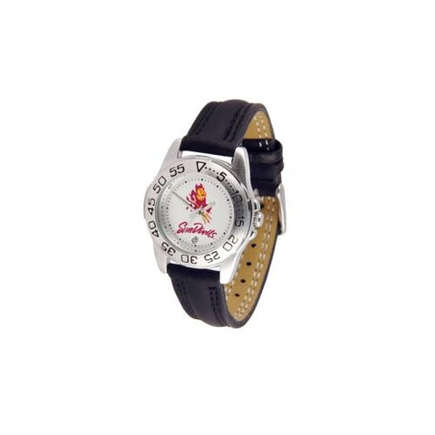"Arizona State Sun Devils NCAA ""Sport"" Ladies Watch (Leather Band)"