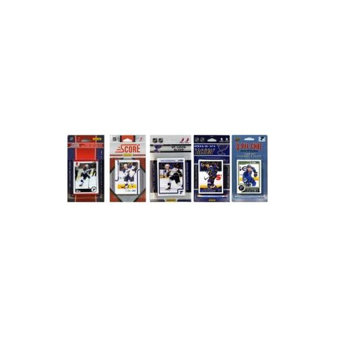 NHL St. Louis Blues 5 Different Licensed Trading Card Team Sets