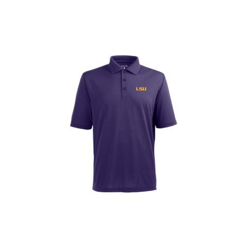 "LSU Tigers NCAA ""Pique Xtra Lite"" Men's Polo (Dark Purple) (Small)"