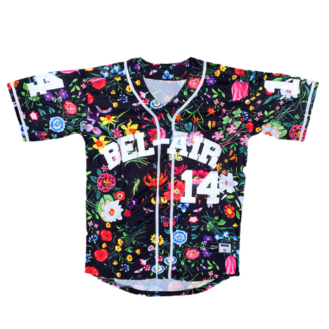 The Fresh Prince of Bel-Air Will Smith #14 Floral Baseball Throwback Jersey