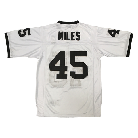 Miles #45 Permian High School White Football Throwback Jersey