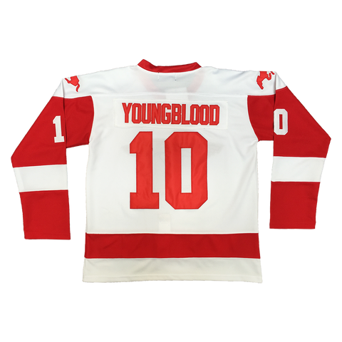 Youngblood #10 Hamilton Mustangs Hockey Throwback Jersey