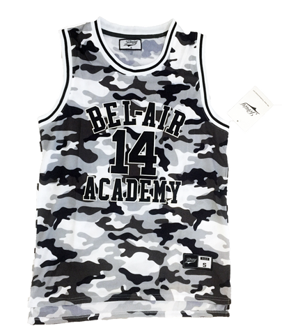 The Fresh Prince of Bel-Air Jersey Will Smith #14 Grey Camoflauge Basketball Throwback Jersey