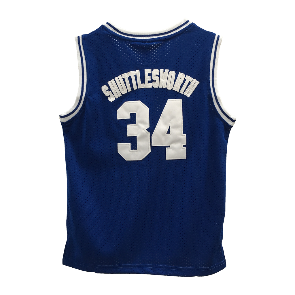 Shuttlesworth #34 Lincoln High School Blue YOUTH Basketball Throwback Jersey