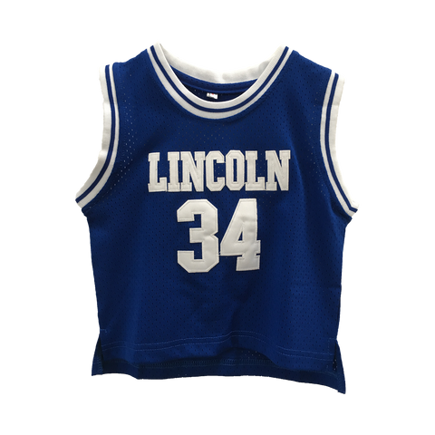 Shuttlesworth #34 Lincoln High School Blue TODDLER Basketball Throwback Jersey