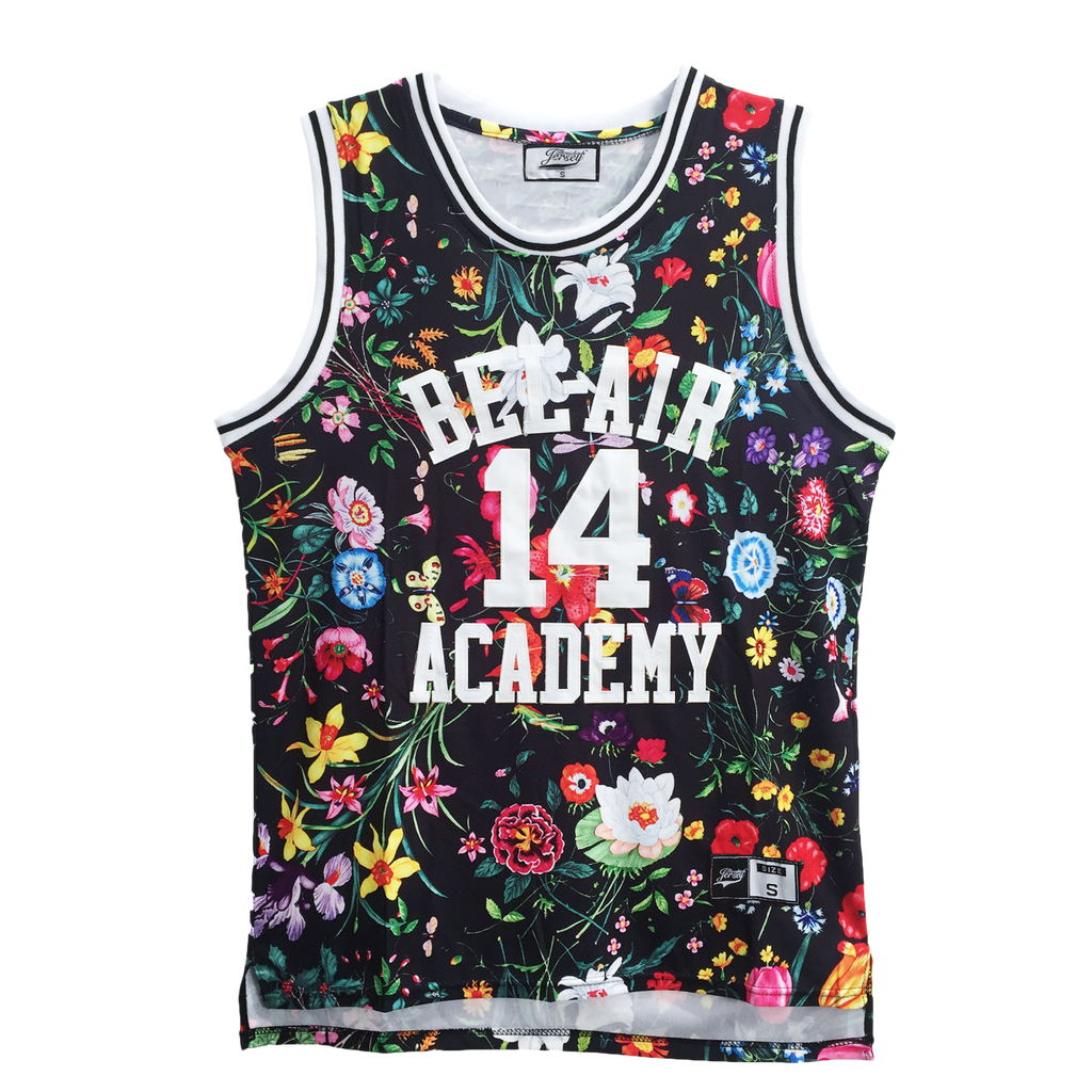 The Fresh Prince of Bel-Air Jersey Will Smith #14 Floral Basketball Throwback Jersey