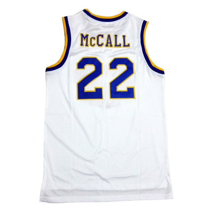 McCall #22 Crenshaw High School White Basketball Throwback Jersey