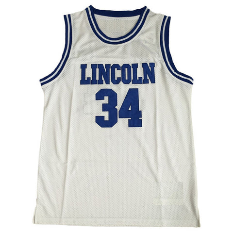 Shuttlesworth #34 Lincoln High School White Basketball Throwback Jersey
