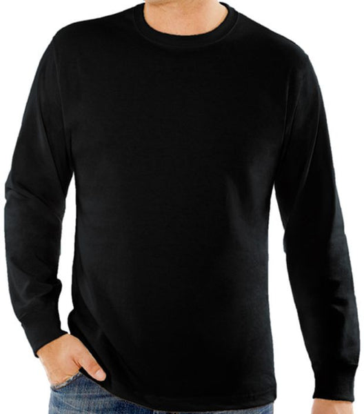Passive Wear Tee -  Men's Long Sleeve Crewneck T-shirt (9oz combed cotton)