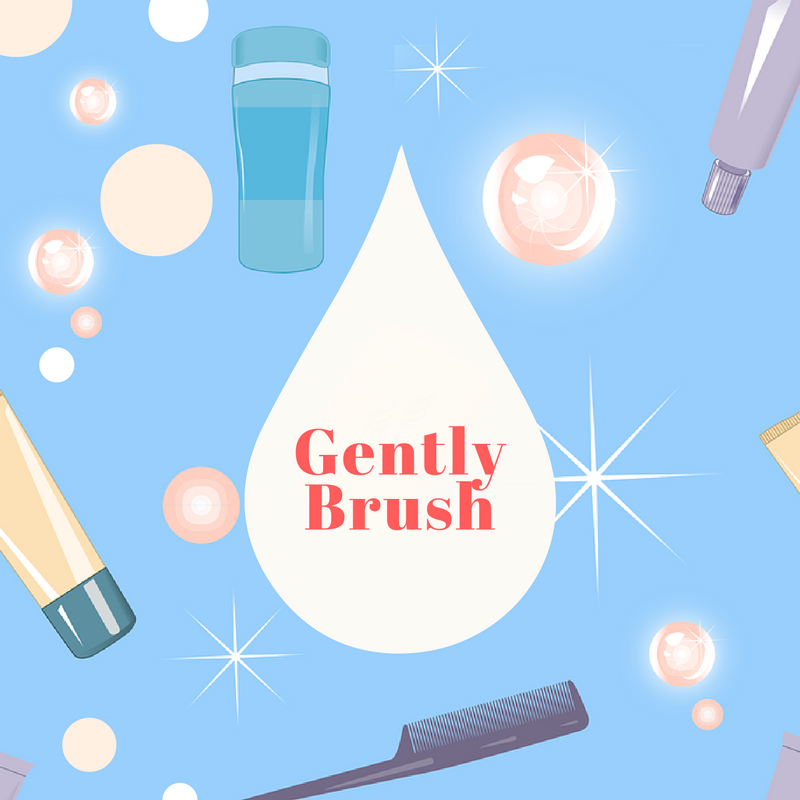 Gently brush hair as it can overstretch and cause damage.