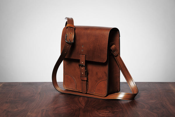 Brown Leather Map Bag