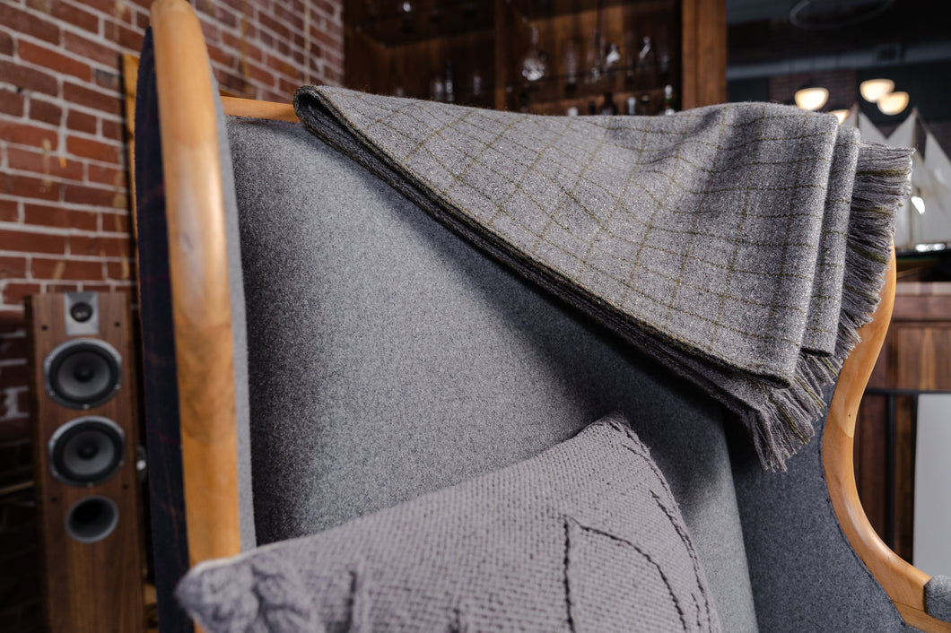 Handwoven Wildwood House Tweed Throw, Cashmere/Silk/Merino