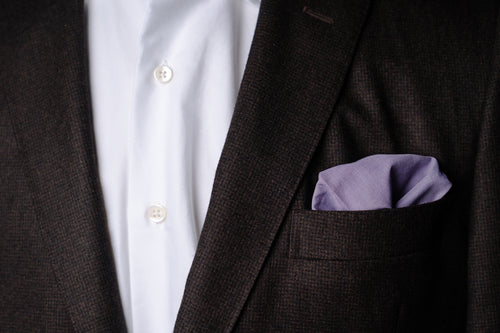 Pocket Square, Lavender Cotton