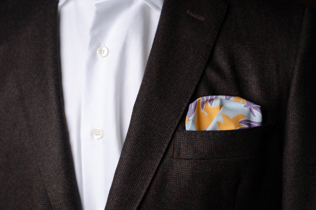 Pocket Square, Cotton Tropical Print
