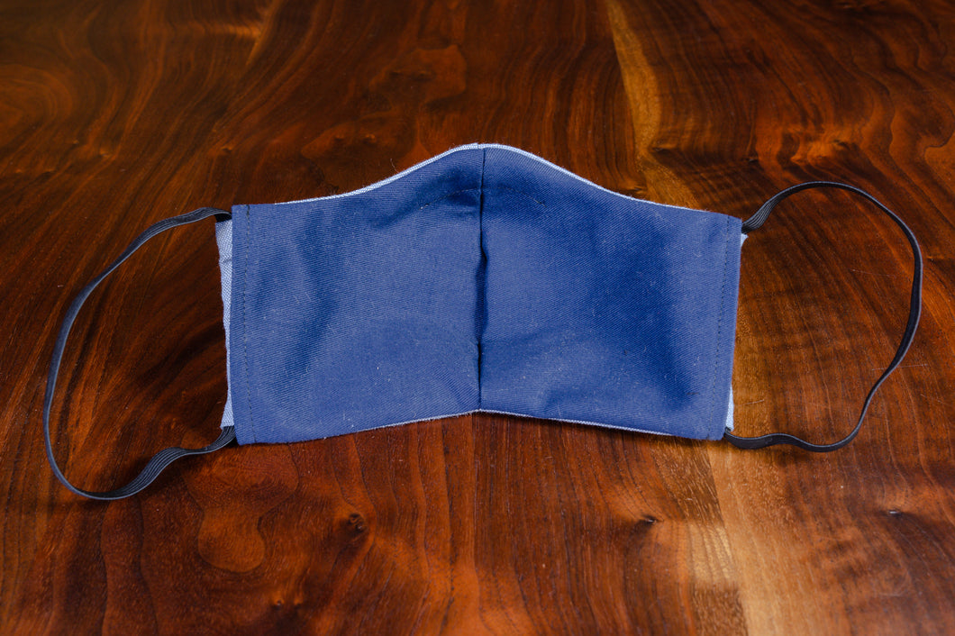 Cloth Mask #4 - Fine Blue Italian Linen