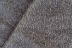 Handwoven Pocket Square, Linen/Silk/Steel Diamond Twill