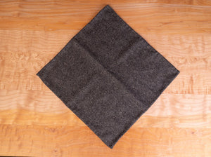 Pocket Square, Hand-Rolled, Gray Wool Tweed