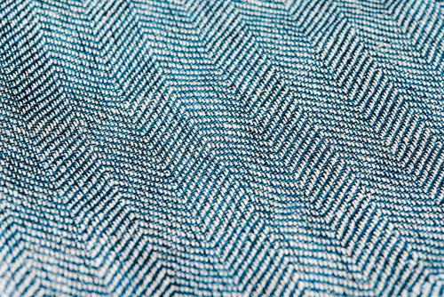 Handwoven Pocket Square, Linen/Wool/Steel Herringbone
