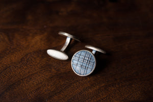 Solid Bronze Cufflinks - Plaid