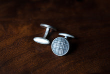 Solid Sterling Silver Cufflinks - Plaid